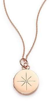 Devon Woodhill Devon Woodhill Women's North Star Diamond& 14K-18K Rose Gold Locket Necklace