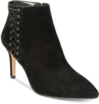 INC International Concepts Women's Tovie Lace-Up Dress Booties, Only at Macy's $129.50 thestylecure.com
