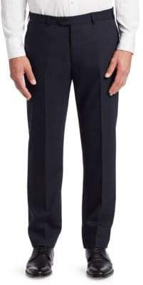 Emporio Armani G Line Tonal Stripe Stretch Wool Pants