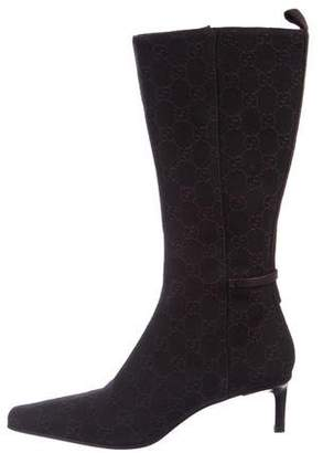 Gucci Guccissima Mid-Heel Boots