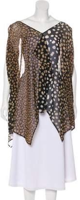 Christian Dior Printed Draped Tunic