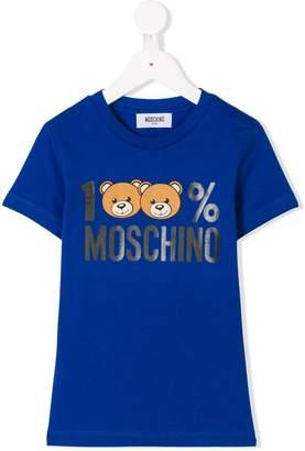 Moschino Kids Teddy logo print T-shirt