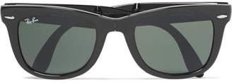 Ray-Ban Wayfarer Folding Acetate Sunglasses - Men - Black