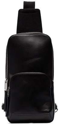 1017 ALYX 9SM black zip pocket leather cross body bag