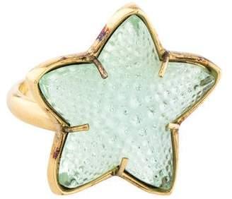 Lalique Crystal Starfish Ring