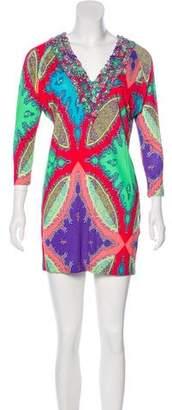 Etro Ruffled Paisley Dress