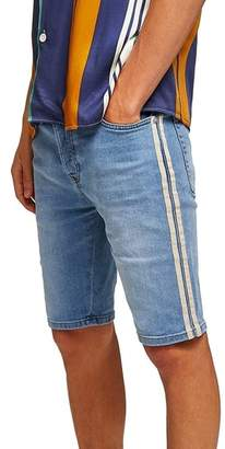 Topman Tape Stretch Skinny Fit Denim Shorts