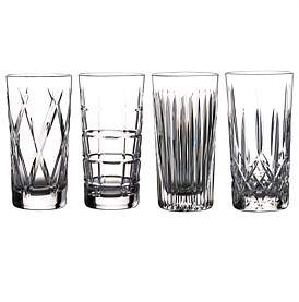 Waterford Crystal Gin Journey Hi Ball Mixed Set Of 4