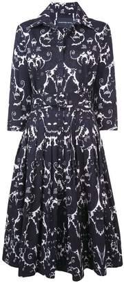 Samantha Sung printed design flared dress