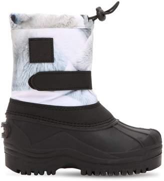 Molo Polar Bear Nylon & Rubber Ski Boots