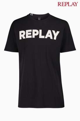 Next Mens Replay Logo T-Shirt