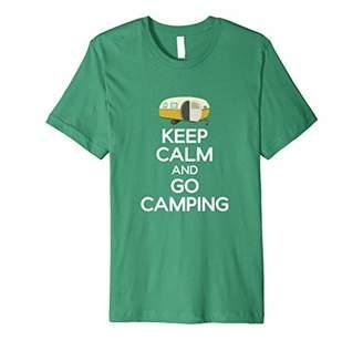 Camper Keep Calm Camping T-Shirt Cute Vintage
