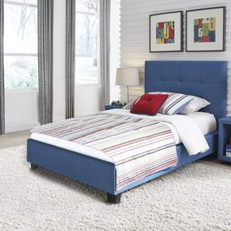 Fashion Kids Henley Upholstered Complete Kids Storage Bed, Denim Blue Finish