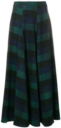 Woolrich long checked skirt