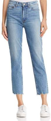 Paige Jacqueline Straight Distressed-Hem Jeans in Elmira - 100% Exclusive