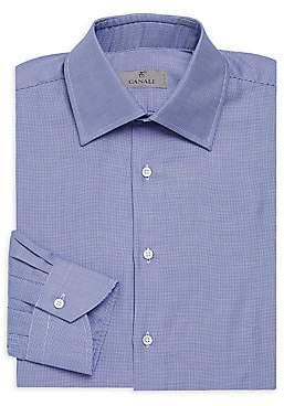 Canali Men's Micro Print Dress Shirt