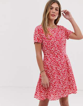 Jack Wills Merriden fit and flare dress in floral