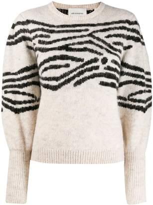 LES COYOTES DE PARIS stripe intarsia detail sweater