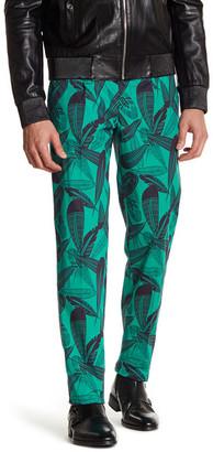 Versace Flat Front Print Pant $308 thestylecure.com