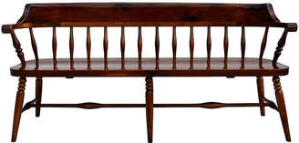 One Kings Lane Vintage Farmhouse Pine Spindle Back Bench - Cannery Row Home