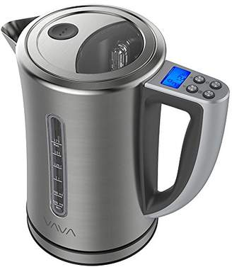 Va Va VAVA Electric Kettle Temperature Control Water Kettle Stainless Steel Cordless Tea Kettle with LCD Display (BPA-Free Build