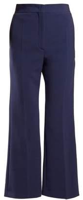 Fendi - Cropped Cady Trousers - Womens - Blue