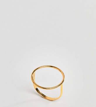 Asos DESIGN Gold Plated Sterling Silver Fine Open Circle Ring