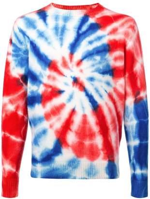The Elder Statesman swirl printed sweatshirt