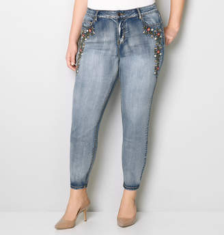 Avenue Floral Embroidered Skinny Jean 28-32
