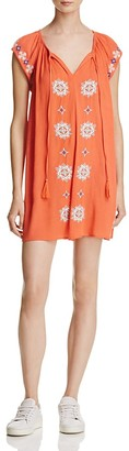 En Créme Embroidered Tunic Dress $58 thestylecure.com