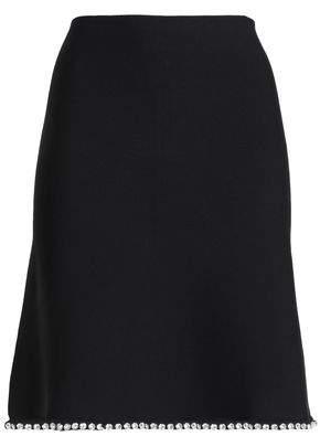 Alexander Wang Crystal-Embellished Ponte Mini Skirt