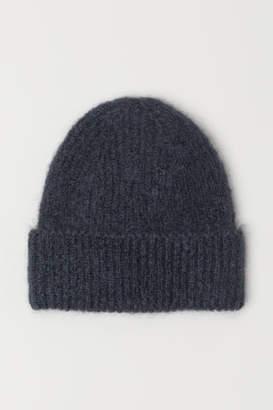 H&M Mohair-blend Hat - Gray