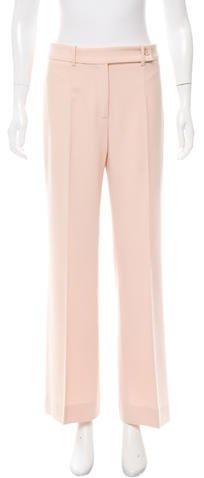 Michael Kors Virgin Wool Wide-Leg Pants