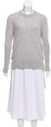 RtA Denim Lace-Up Cashmere Sweater