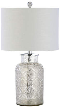 Jonathan Y Emilia Trellis Pattern Glass Led Table Lamp
