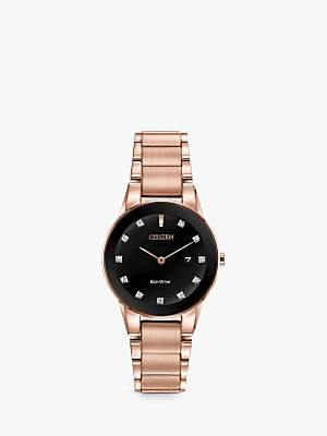Citizen Women's Axiom Date Diamond Bracelet Strap Watch