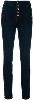 J Brand buttoned skinny jeans