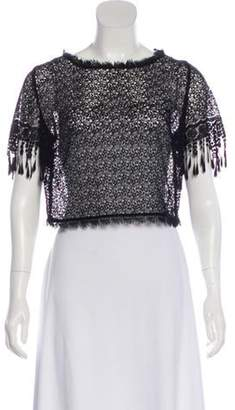 Lena Hoschek Short Sleeve Lace Top Black Short Sleeve Lace Top