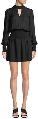 Parker Robyn Smocked High-Neck Short Dress