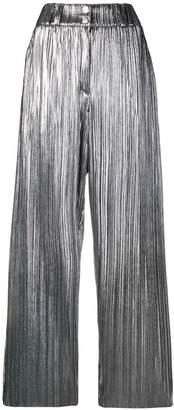 Balmain micro pleated trousers