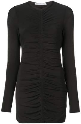 Alexander Wang long-sleeved ruched dress