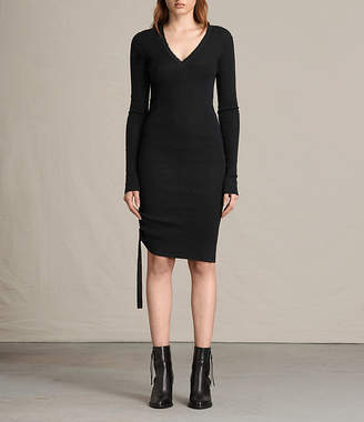 AllSaints Vana V-Neck Dress