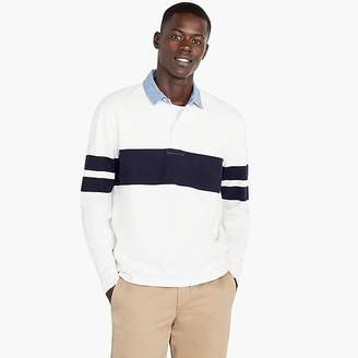 J.Crew 1984 Rugby Polo In Ivory Stripe