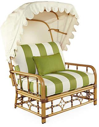 Lane Venture Mimi Cuddle Chair & Canopy - Cilantro Sunbrella
