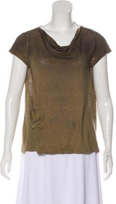 Transit Cowl Neck Short Sleeve Top w/ Tags