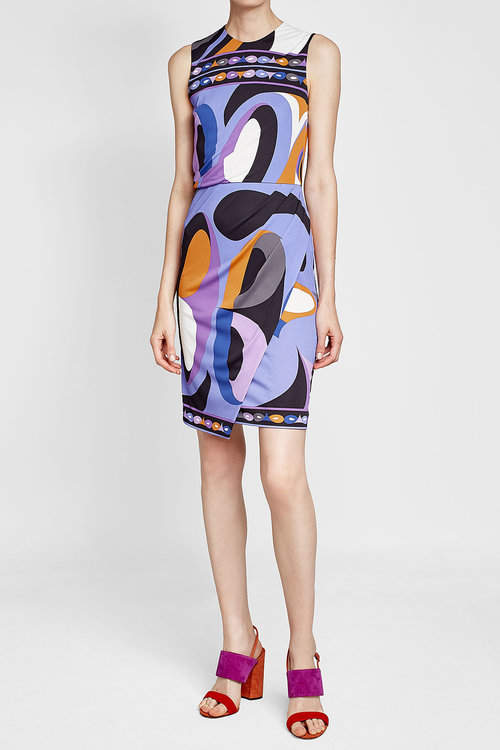 Emilio Pucci Printed Dress with Silk