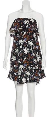 A.L.C. Strapless Ruffle Mini Dress