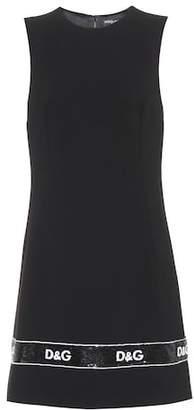 Dolce & Gabbana Wool-crêpe dress