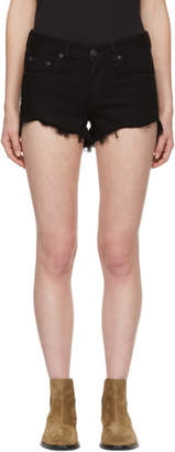Rag & Bone Black Denim Cut-Off Shorts
