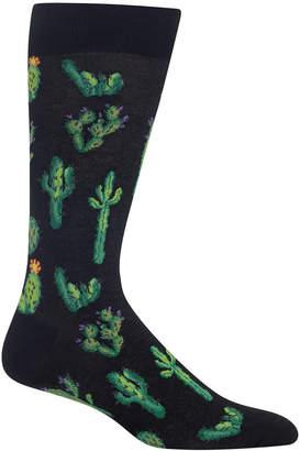 Hot Sox Men's Cactus Crew Socks